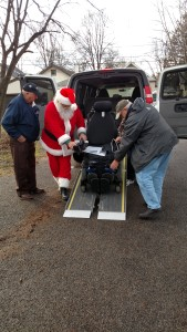 Santa Delivers Power Chair